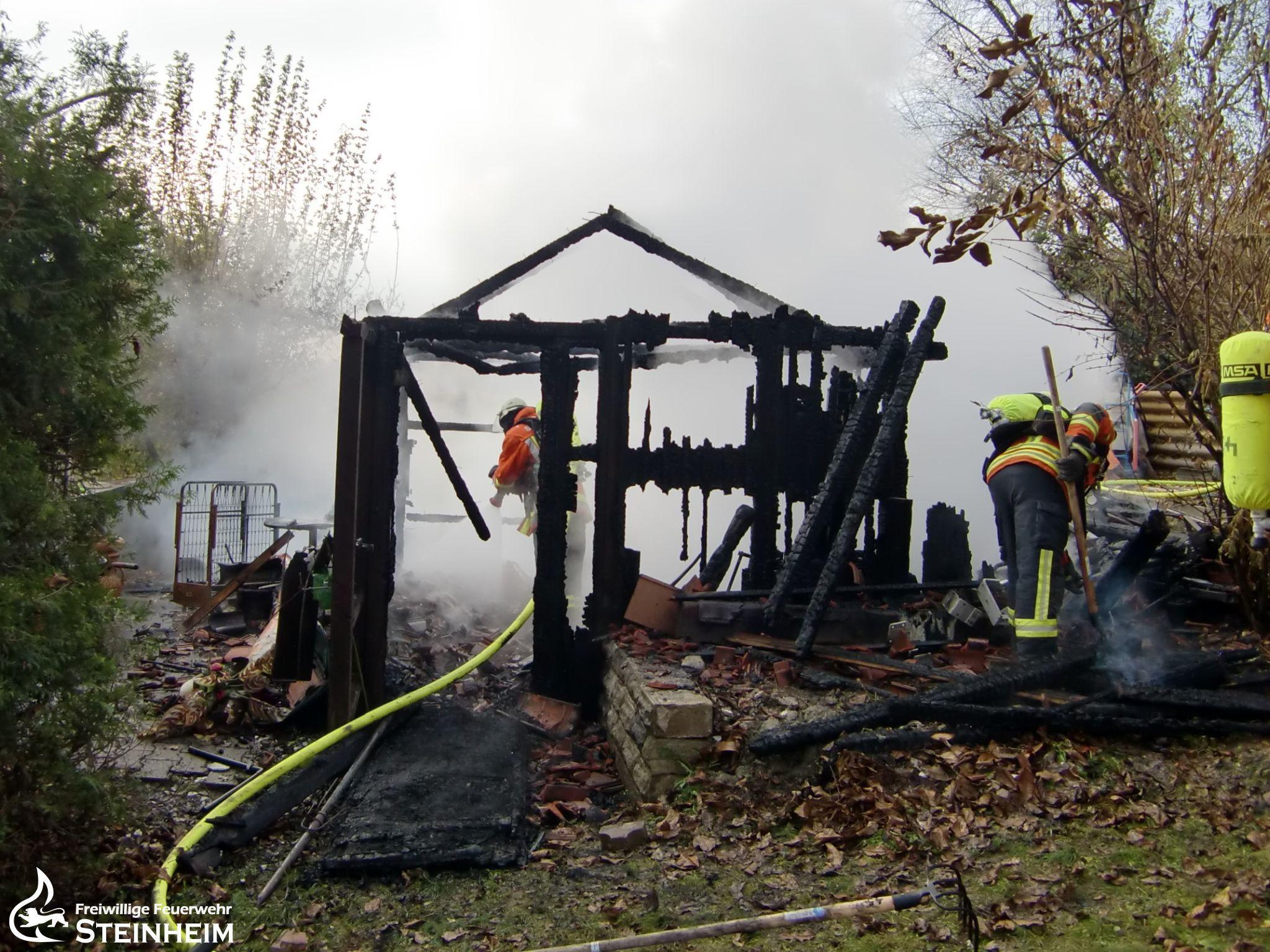 B2 - Gartenhausbrand
